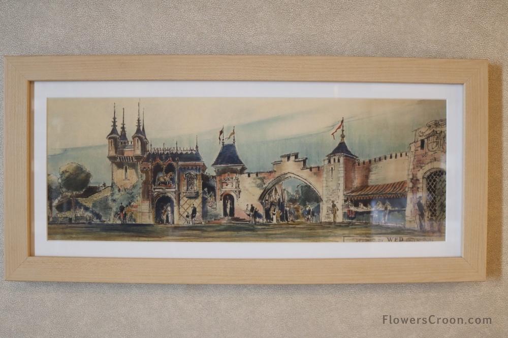 Herb Ryman Art in Disney Wonder Concierge Suite