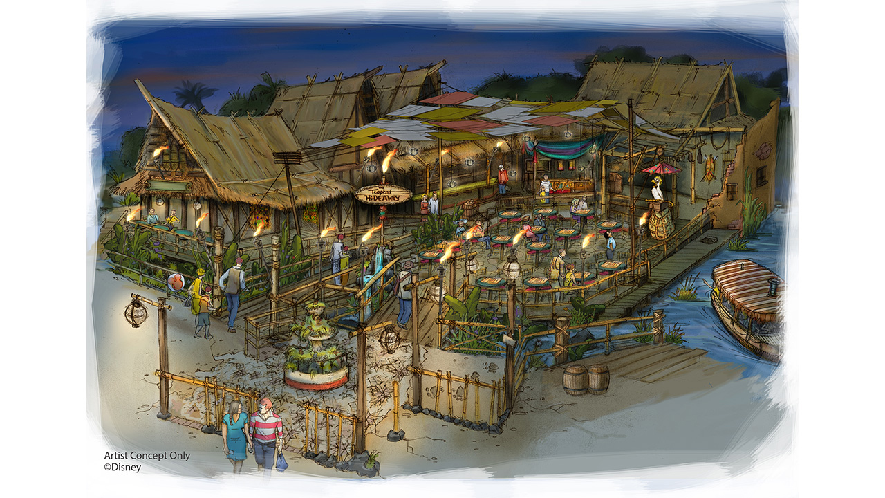 Artist Concept of The Tropical Hideaway from Disney