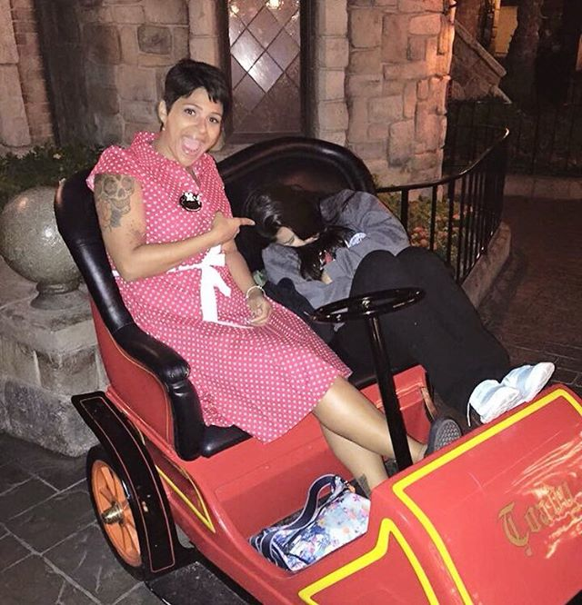 Out like a light, like a light. Like a light, like a light. 😴 #tbt #Disneyland . . . . . . . . #wonderlanddiaries #disneyfamilia #mydisneylife #disneylove #mrtoadswildride #disneygirl #disneybound #minniebound #minniestyle #rockthedots #happiestplaceonearth #nowmorethanever #galaxysedge #disneysmc #disneychica #chicadisney #disneylatina #disneylatinamom #familytravel #disneybound #disneyland60 #outlikealight