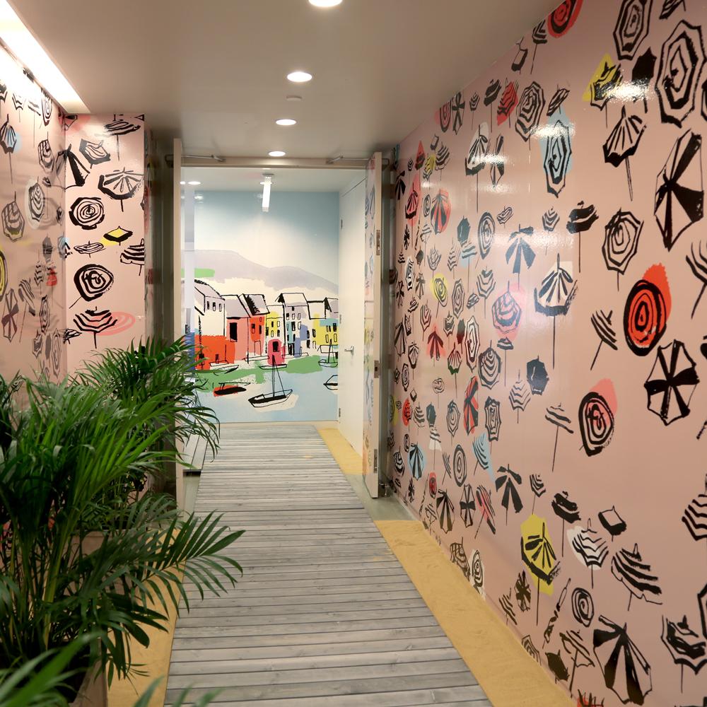 Summer 15 Showroom Wall Art /AD Adam Okrasinski Set Design by Abby Walton