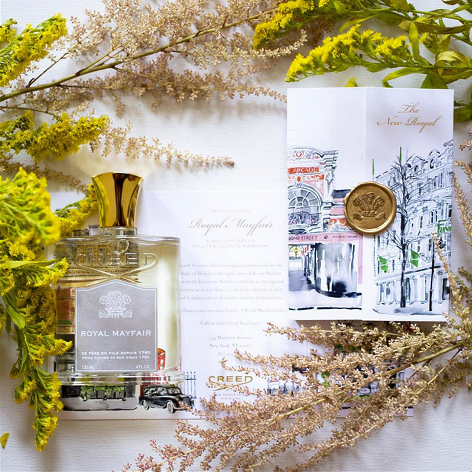 Launch art for Royal Mayfair cologne -used at Creed boutiques,Bergdorf Goodman, packaging and advertising.  AD Lydia Turner