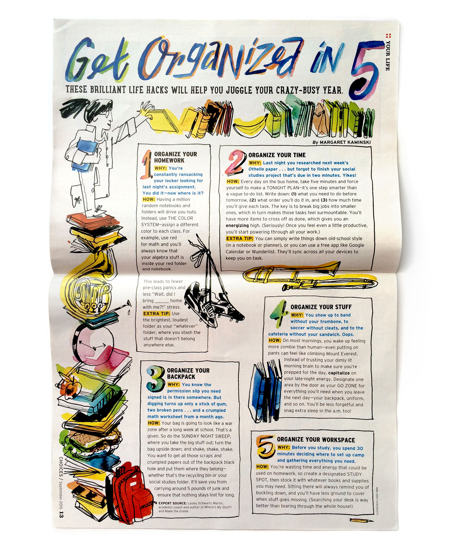 Scholastic Magazine / AD Marilu Lopez