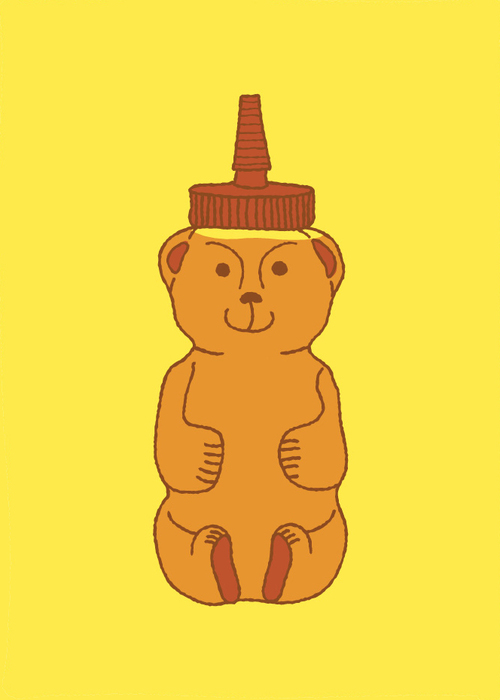 Honey Bear    •   Prints, &c. are available in my Society 6   shop  .