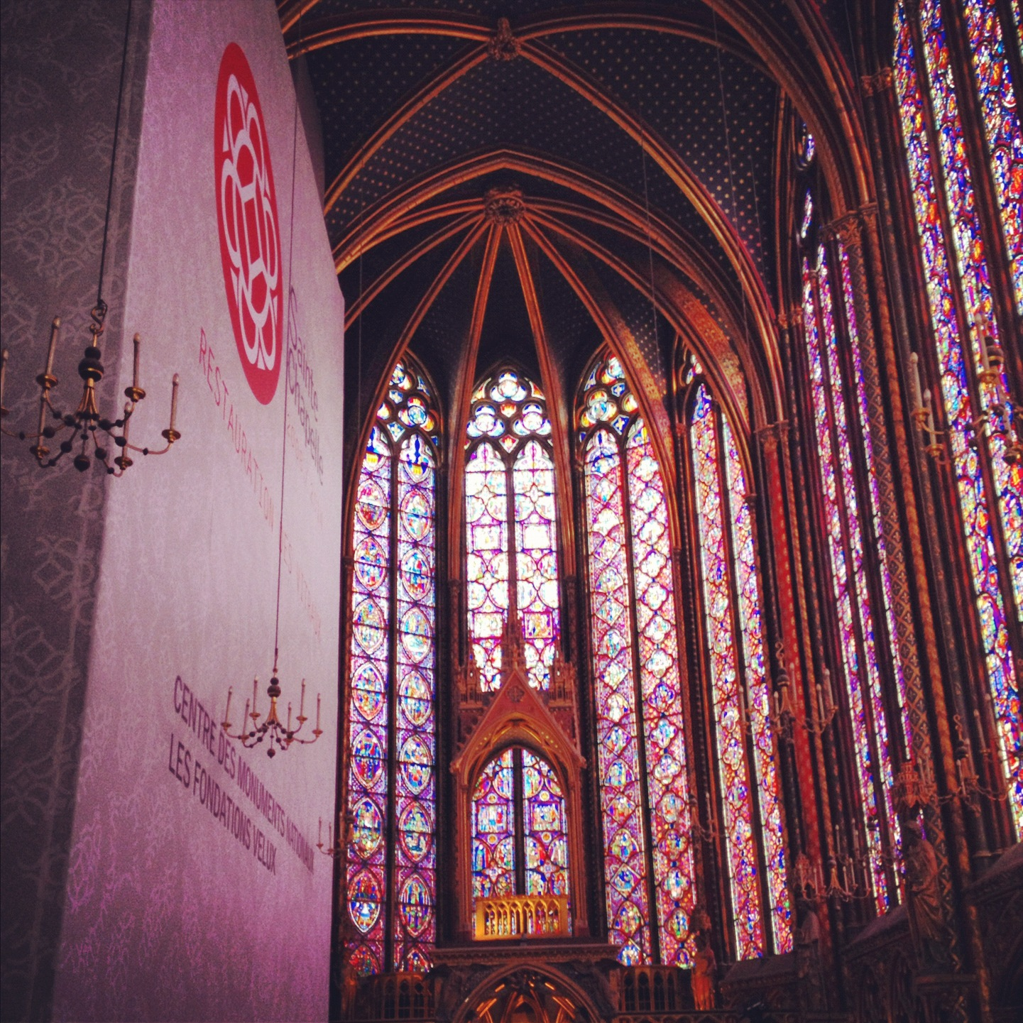 Walls of stained glass at Sainte-Chapelle
