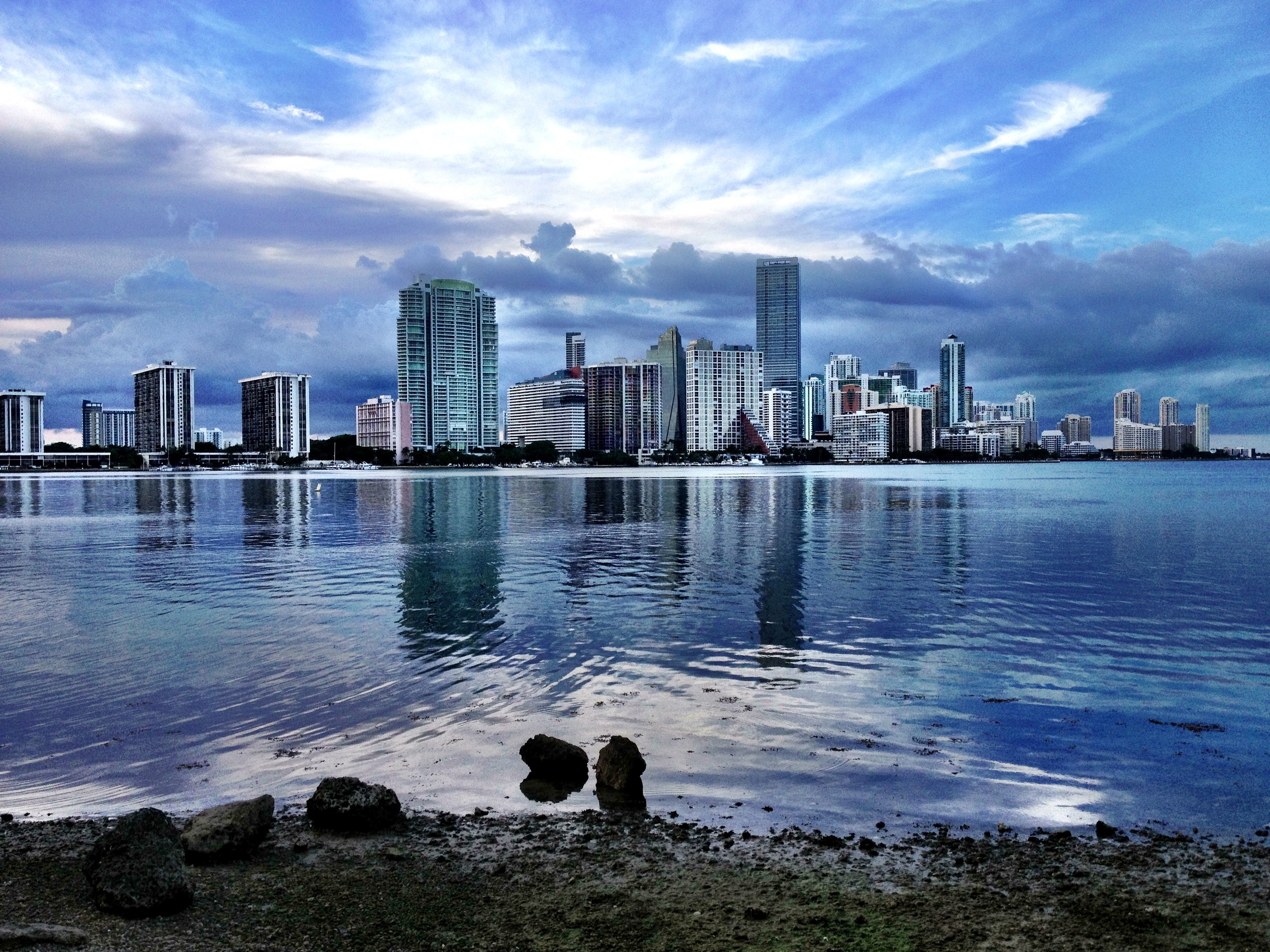 A view of Miami from the Rickenbacker causeway.