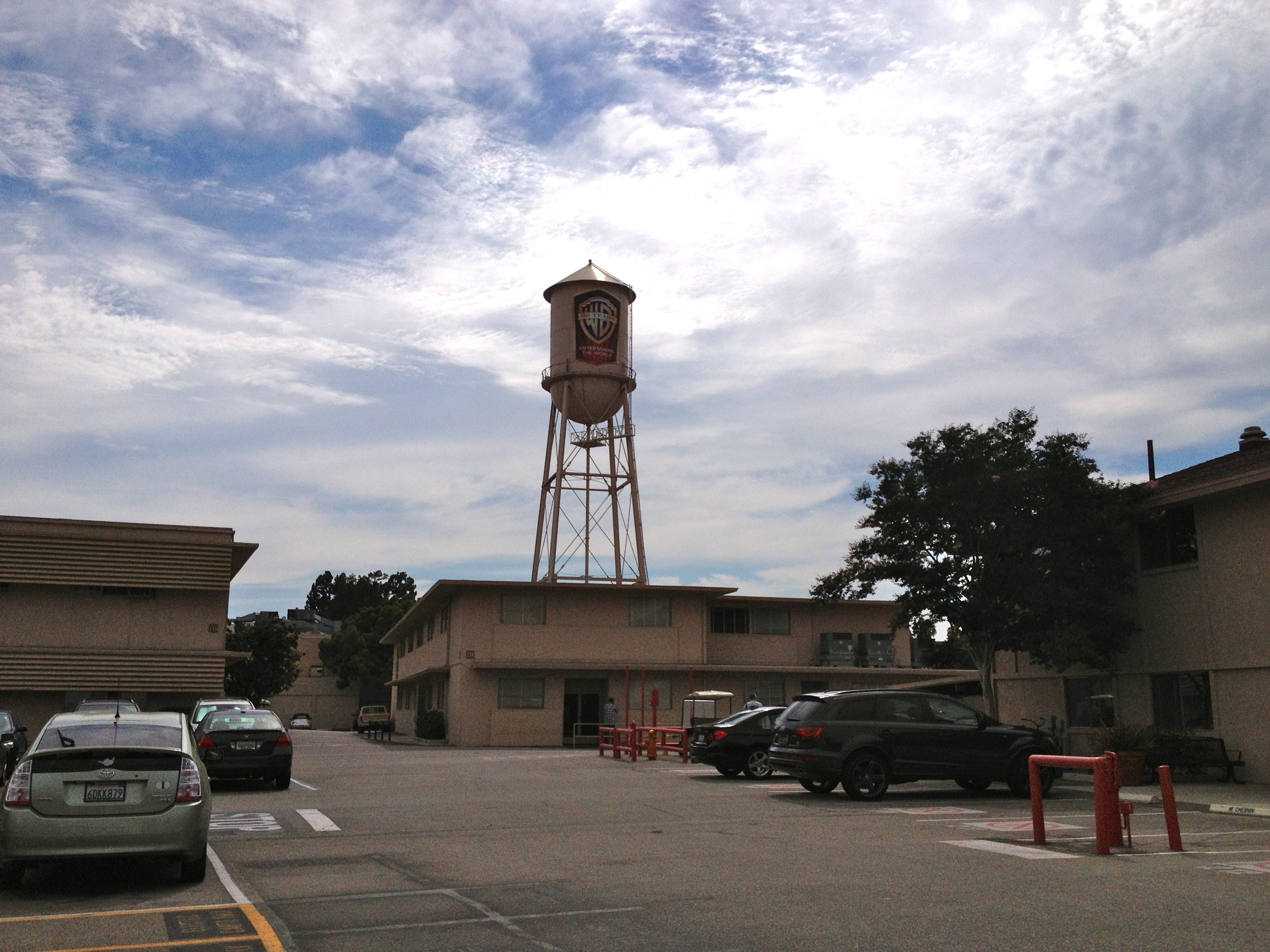 "The famous water tower where the Animaniacs live. Also the parking lot and buildings used for the movie, ""Argo."""