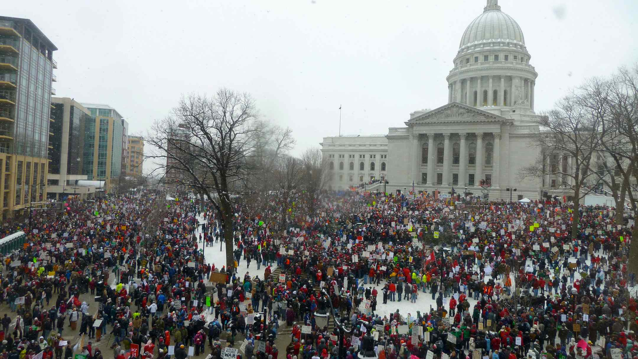 Wisconsin budget protests.