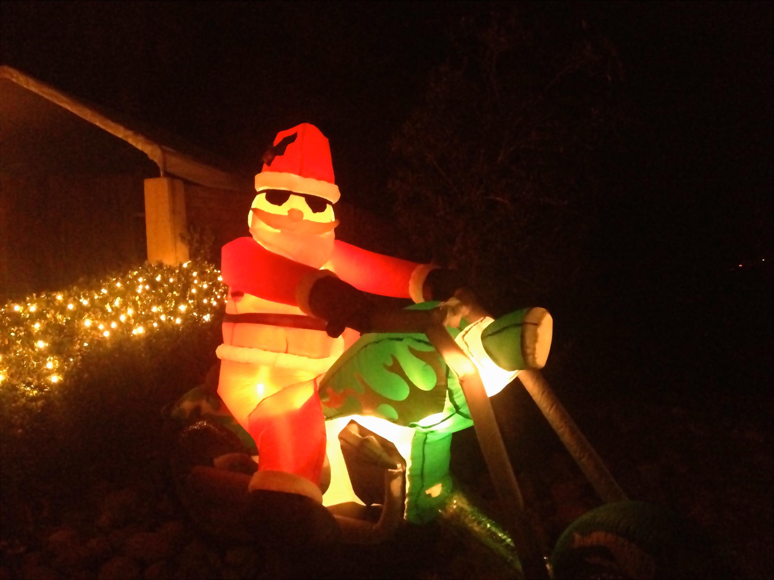 Santa has a new sleigh