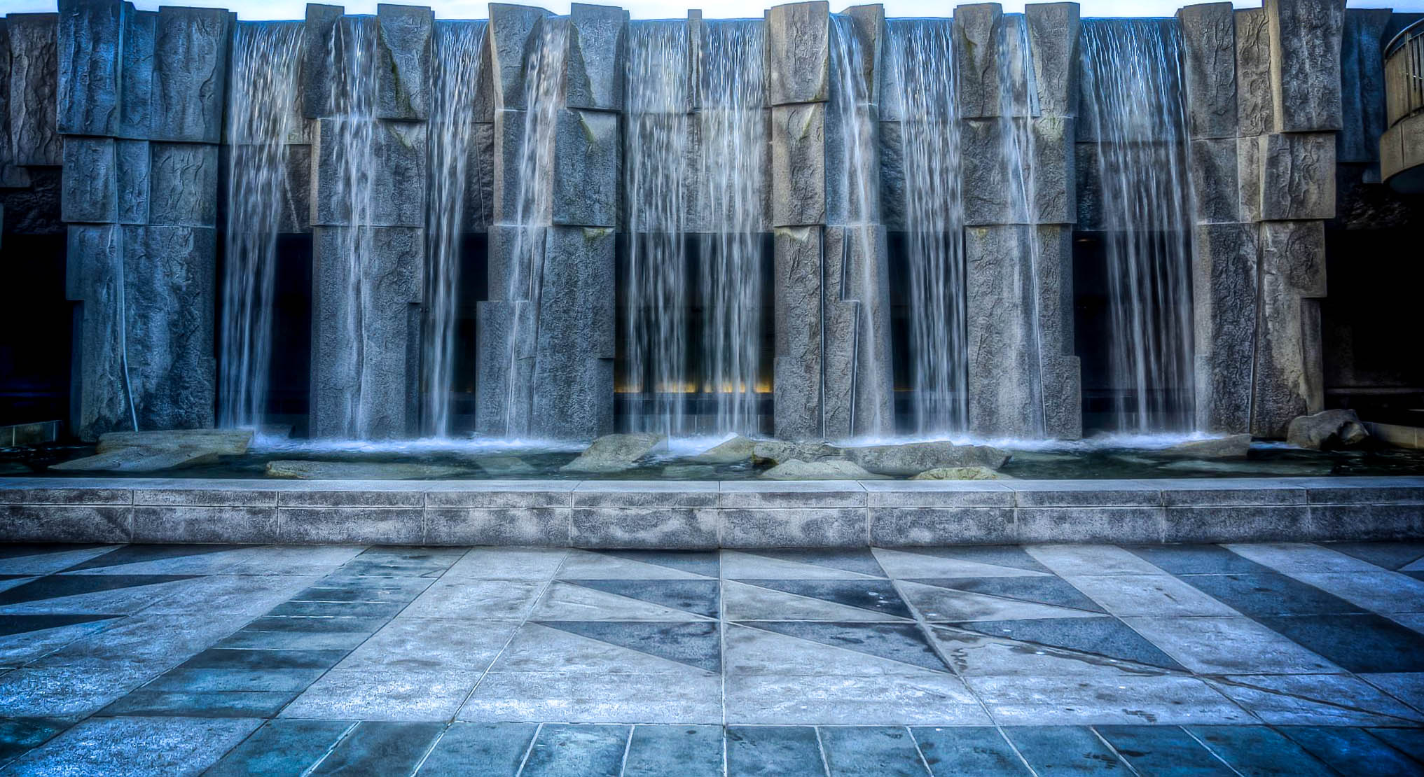 Martin Luther King Jr Memorial Waterfall in Yerba Buena Gardens