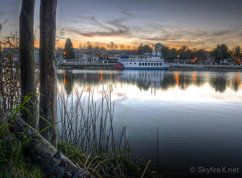 An old HDR photo, taken at sunset.