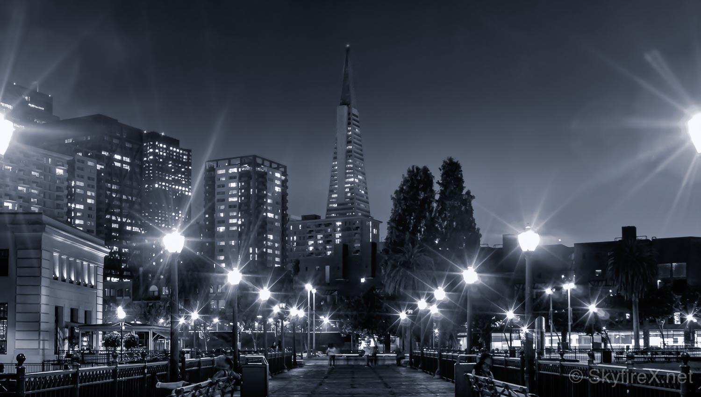 A fogless night in SF