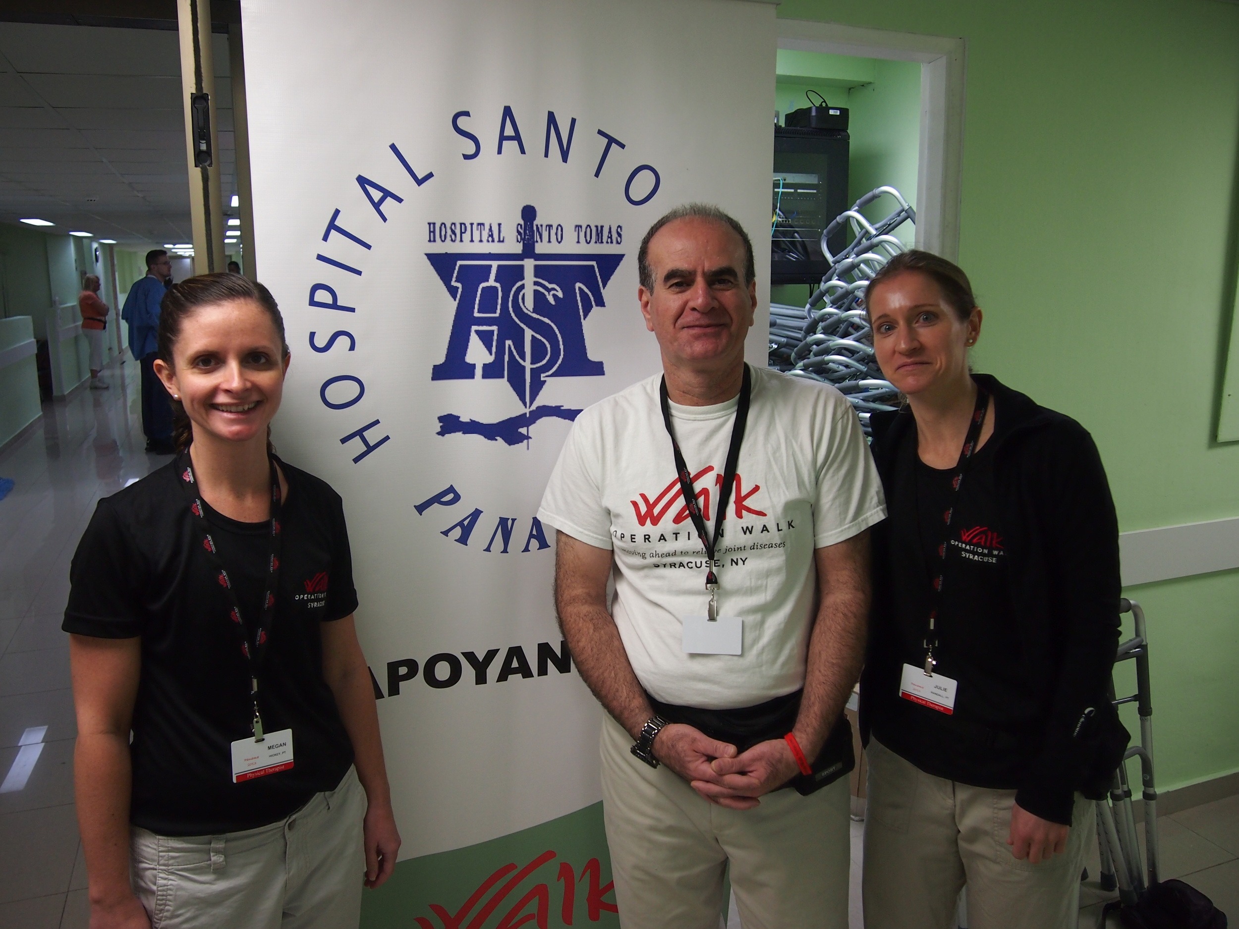Pictured above are the Physical Therapy team of Megan, Badge and Julie.