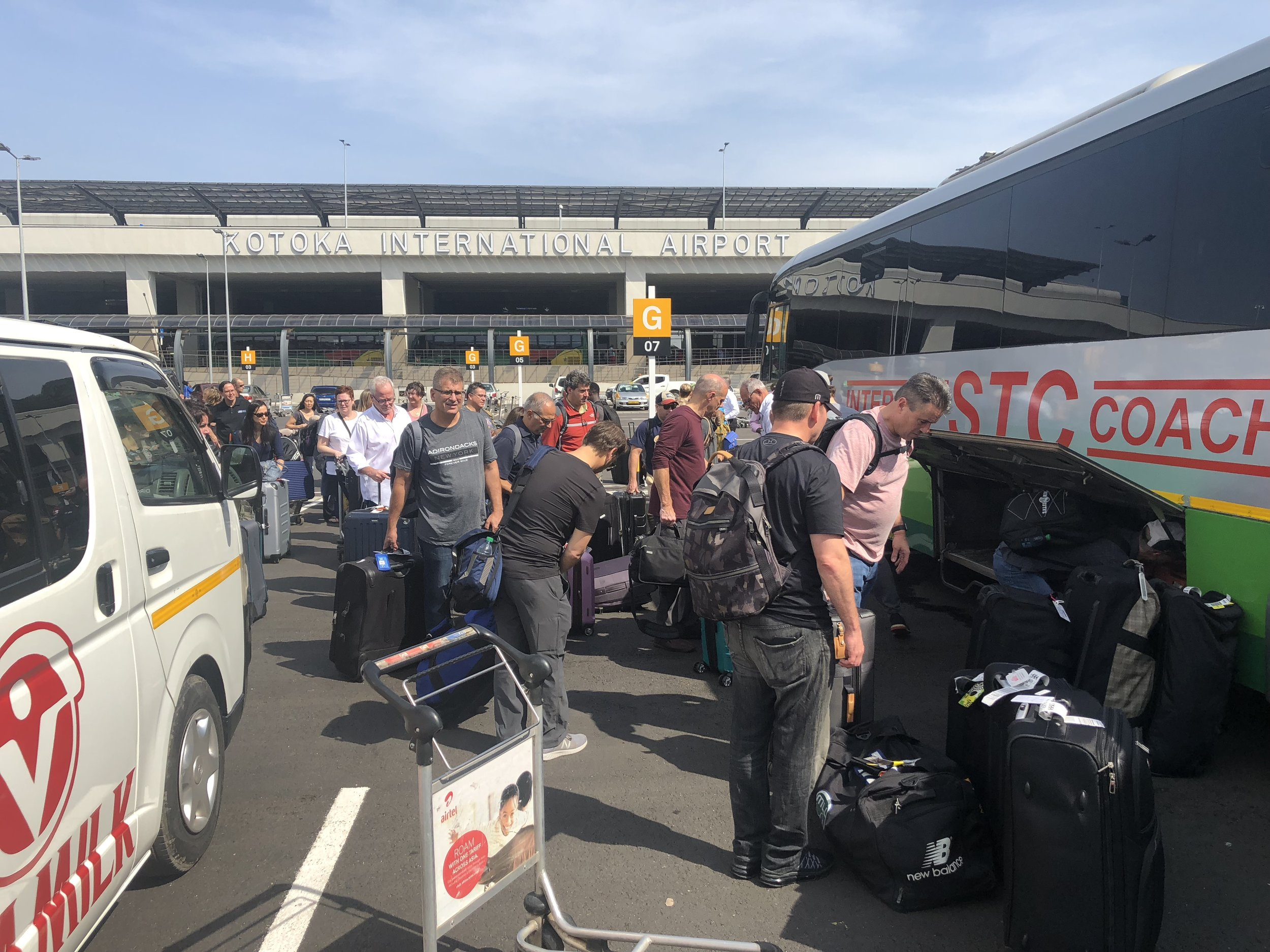 OPERATION WALK 2018 GHANA- BUS ARRIVES WITH TEAM