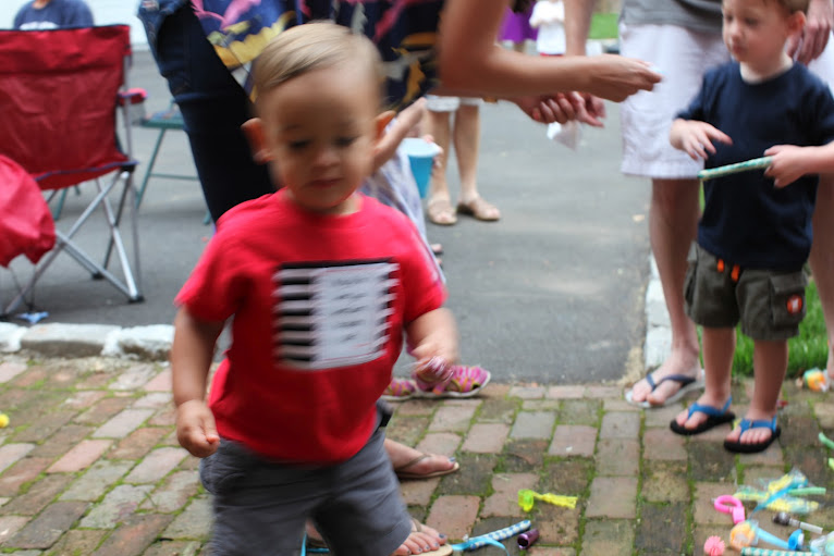 iles' blurry at his 2nd birthday party.