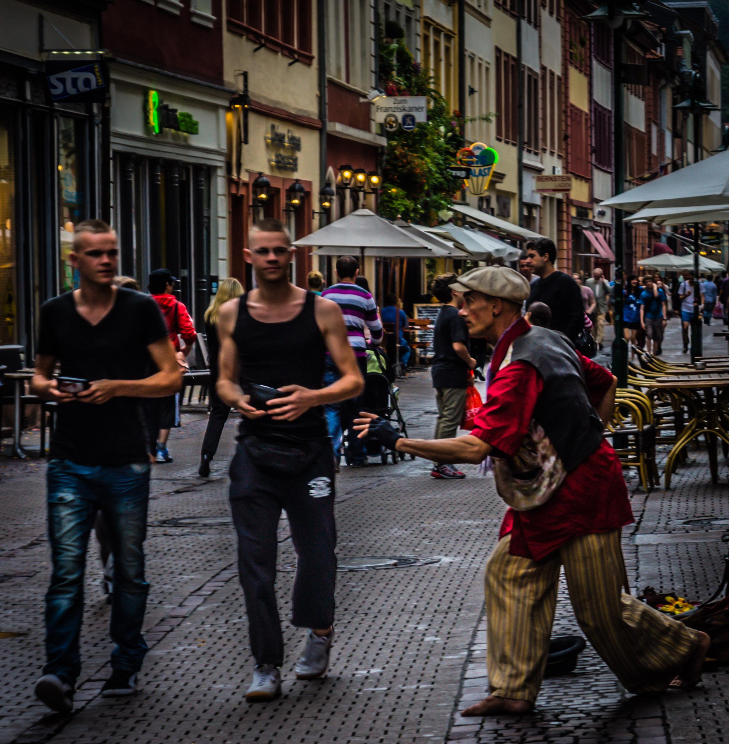 German street performer