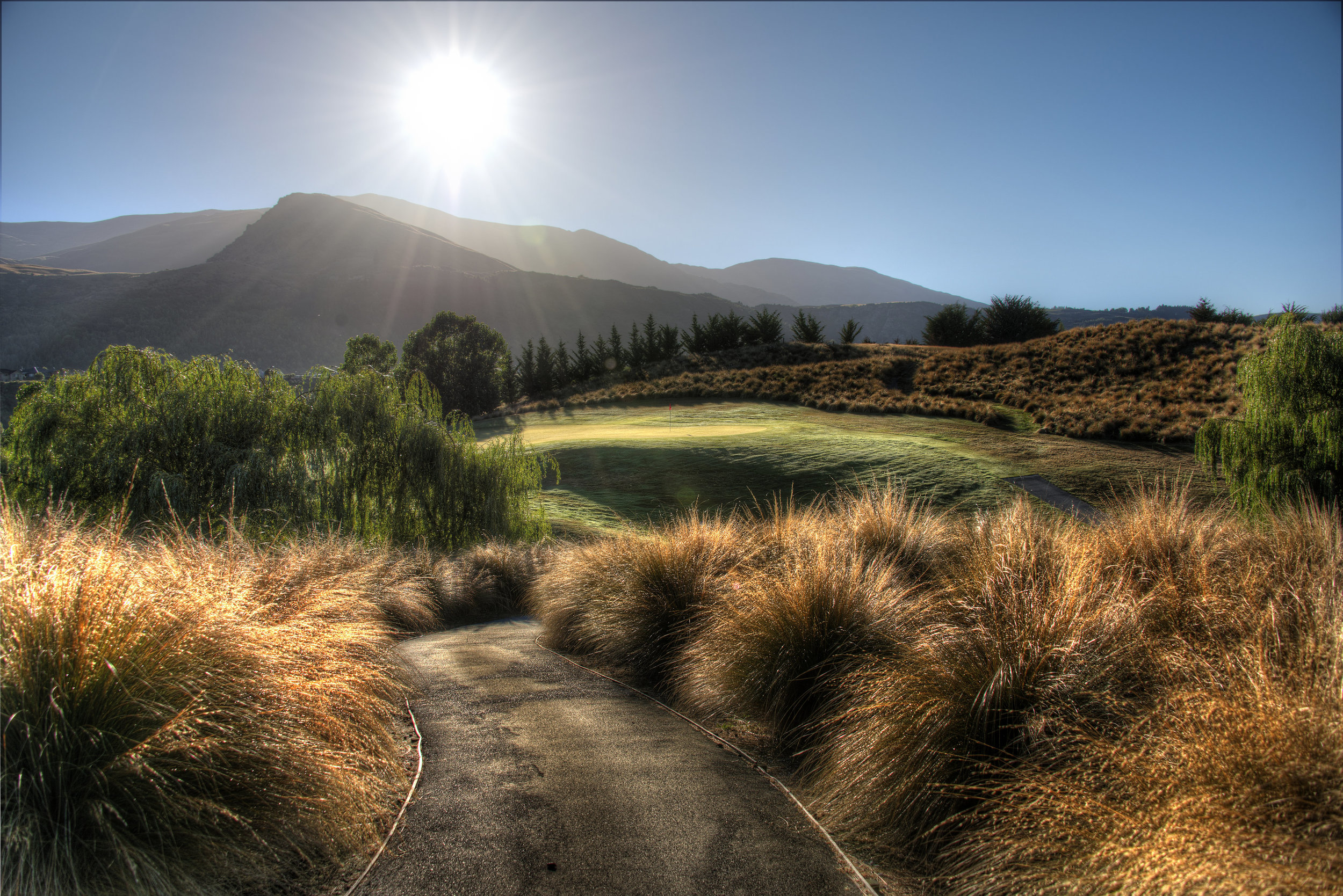 A Path to the Sun. The Hills, Queenstown