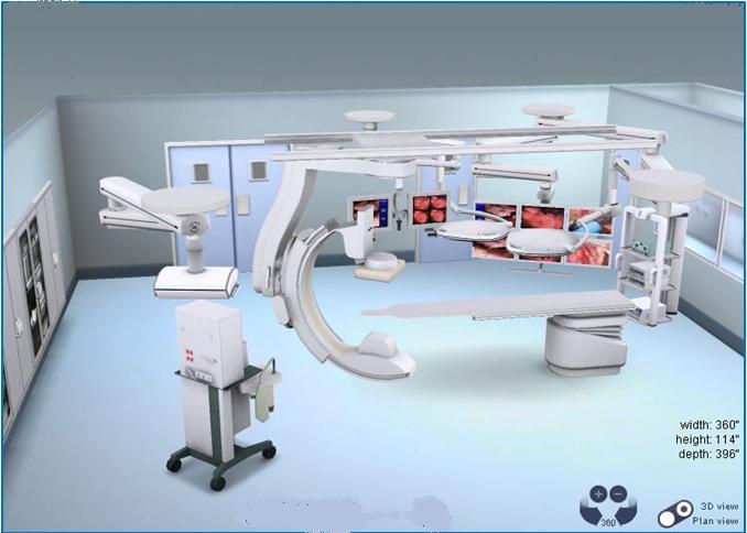 Hybrid Operating RoomMock-upin Interactive 3D