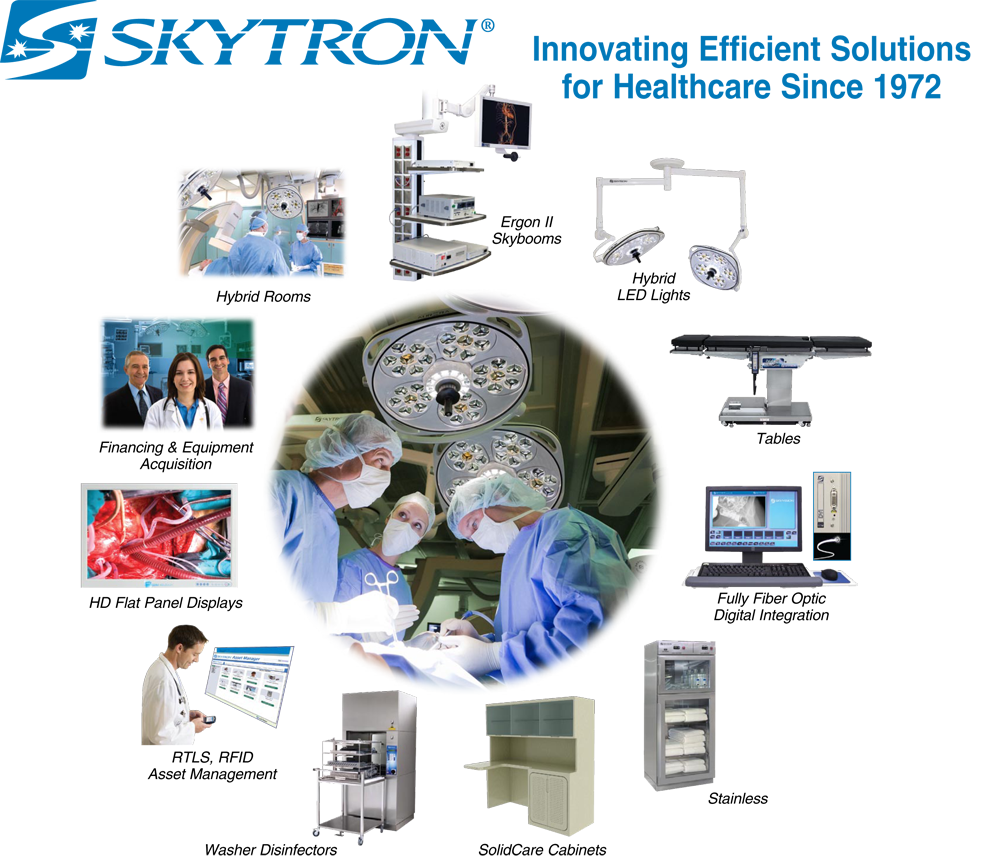 Skytron Equipment Solutions for Hybrid Operating Rooms & Cardiac Cath Lab Suites