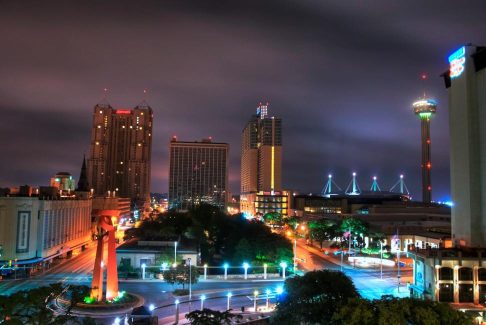 San Antonio skyline morning HDR - Version 2.jpg