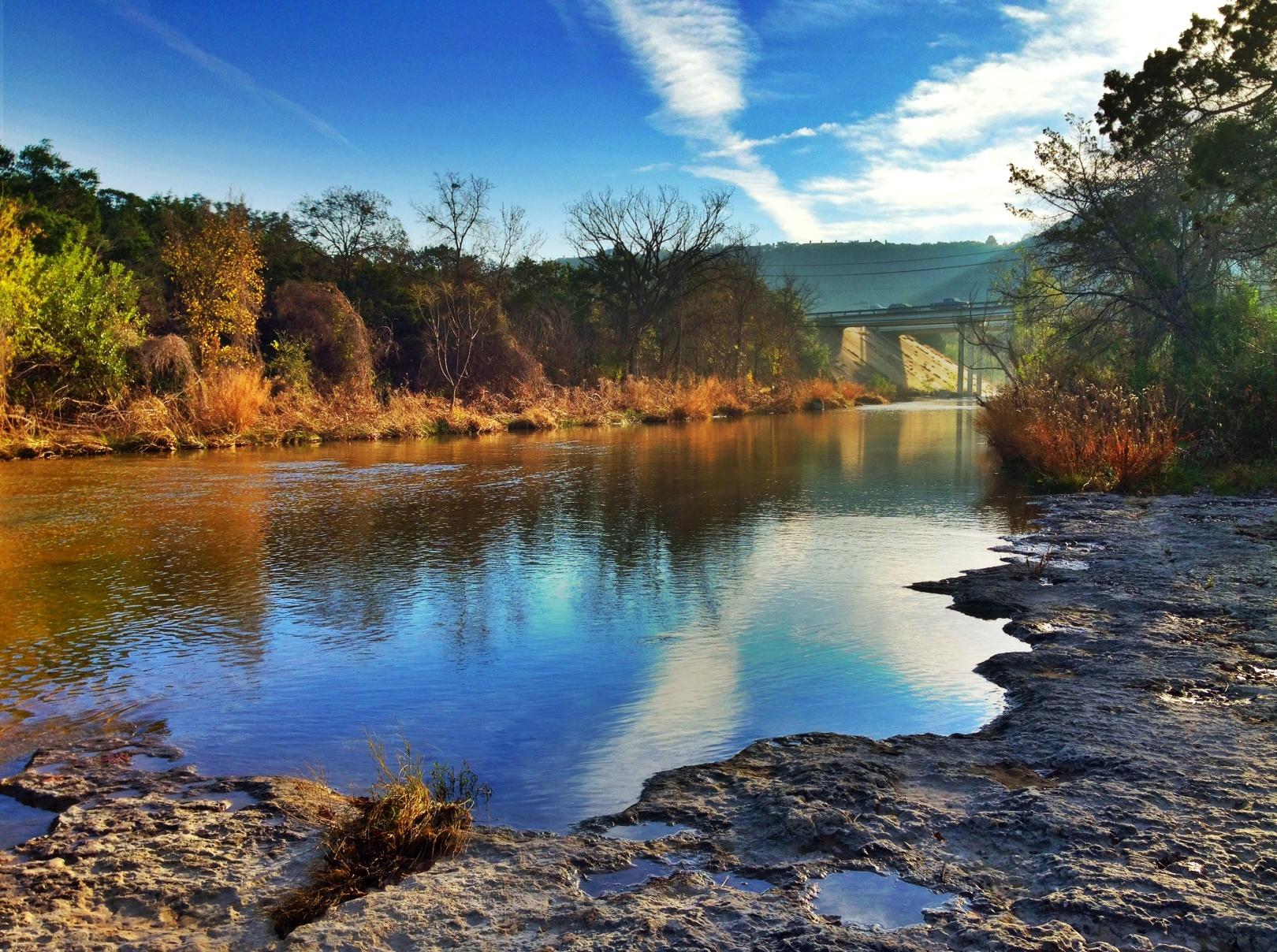 iphone-bull-creek-fall-upstream-sunrise.JPG