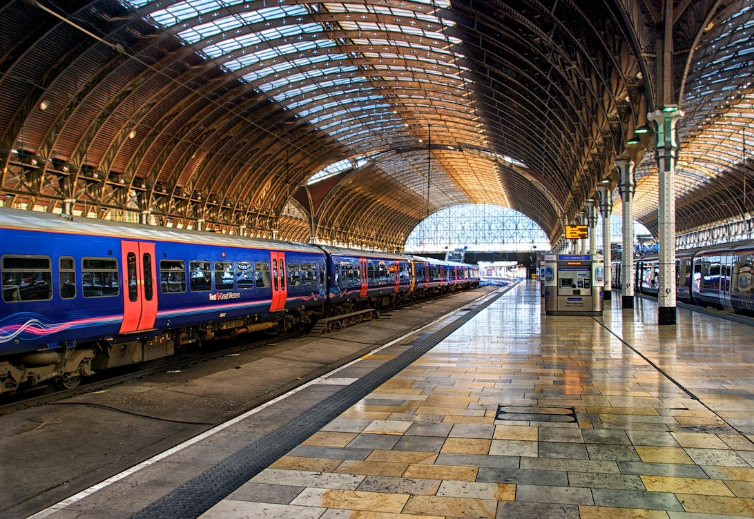 Paddington Station - here you can catch the Heathrow Express and quickly get to Heathrow Airport.