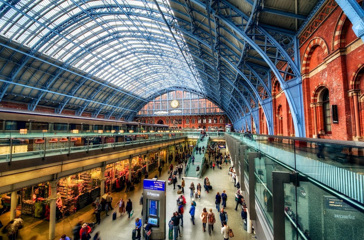 St. Pancras Station - amazing! Here you can catch the Eurostar to Paris. Ooh la la! :-)