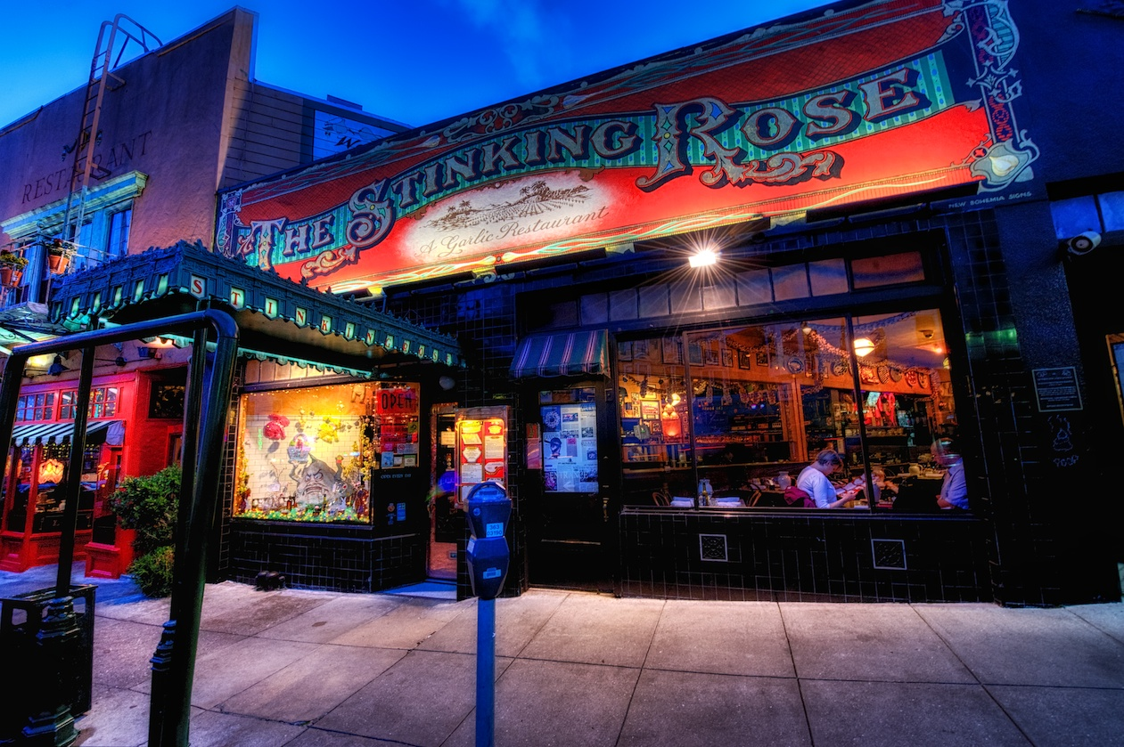 The Stinking Rose, a garlic restaurant. Yes, you read that right. :-)