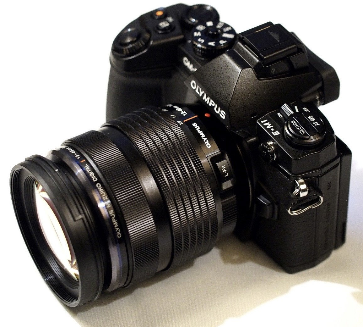 A perfect combo: Olympus OM-D EM-1 camera with the 12-40mm f/2.8 Pro lens on it.
