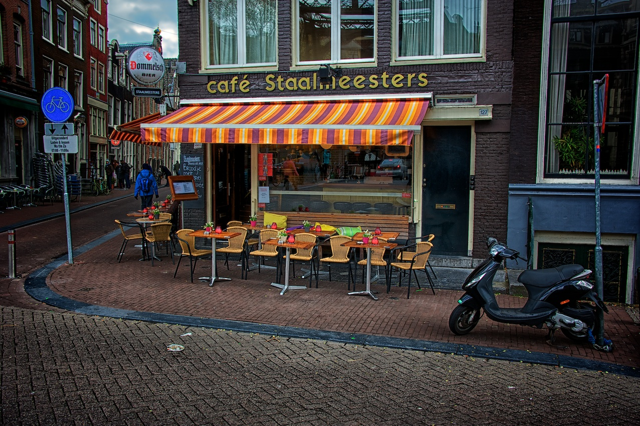 A typical scene you will encounter while wandering Amsterdam.