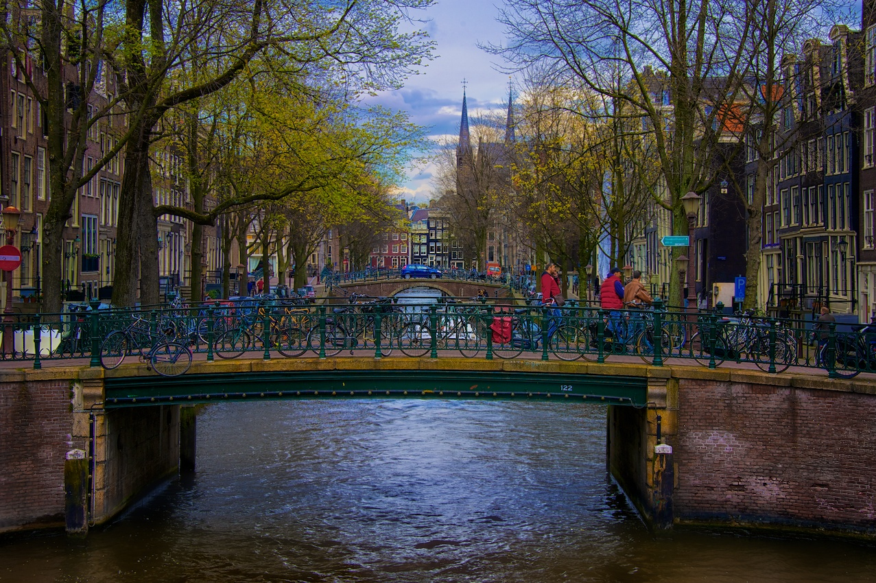 One of the millions of little bridges crossing over a canal.
