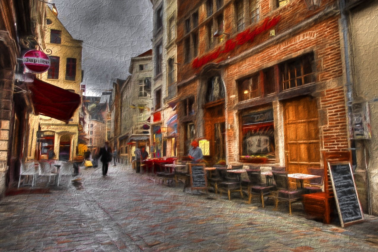 This is a side street in Brussels Belgium.  I used the Cave Dweller effect on this one.