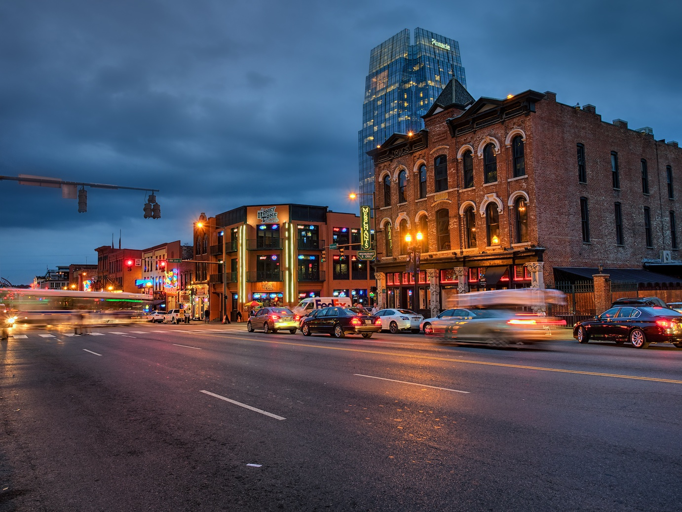 Blue hour on Broadway Avenue