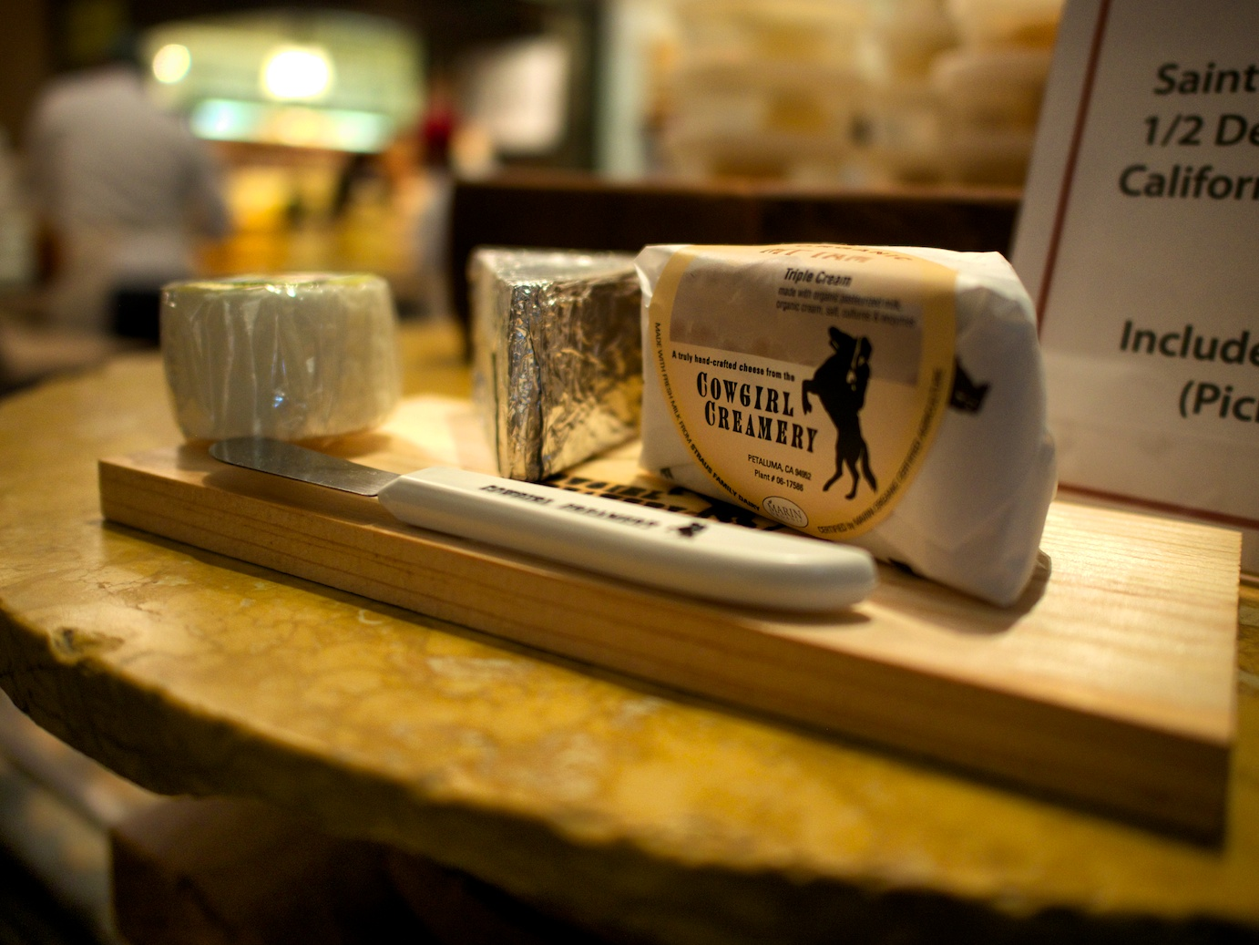 At a cheese shop, shooting at f/1.7