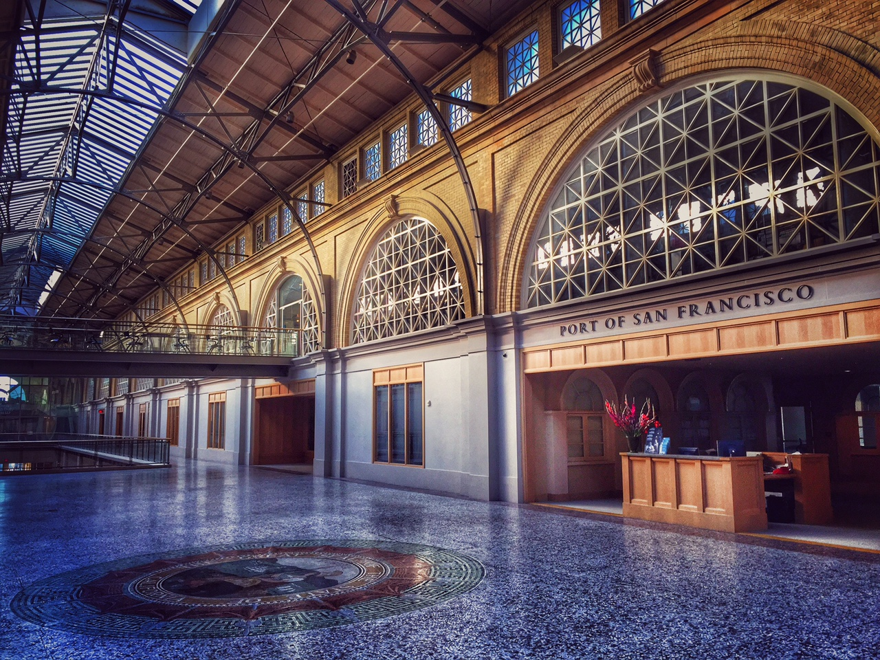 this is the second floor of the ferry building, which is fun to wander around, although it's not really a public place.