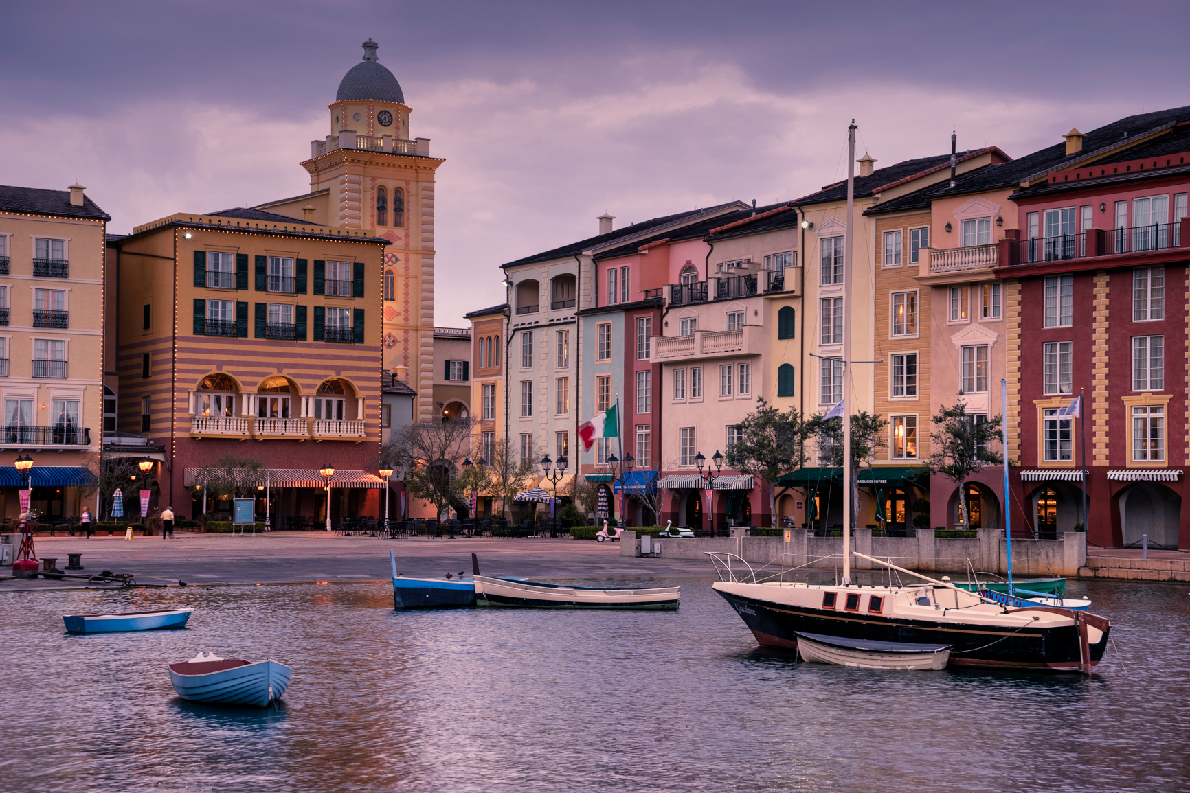 Portofino Bay Resort in Orlando, FL - such a great representation of Italy!