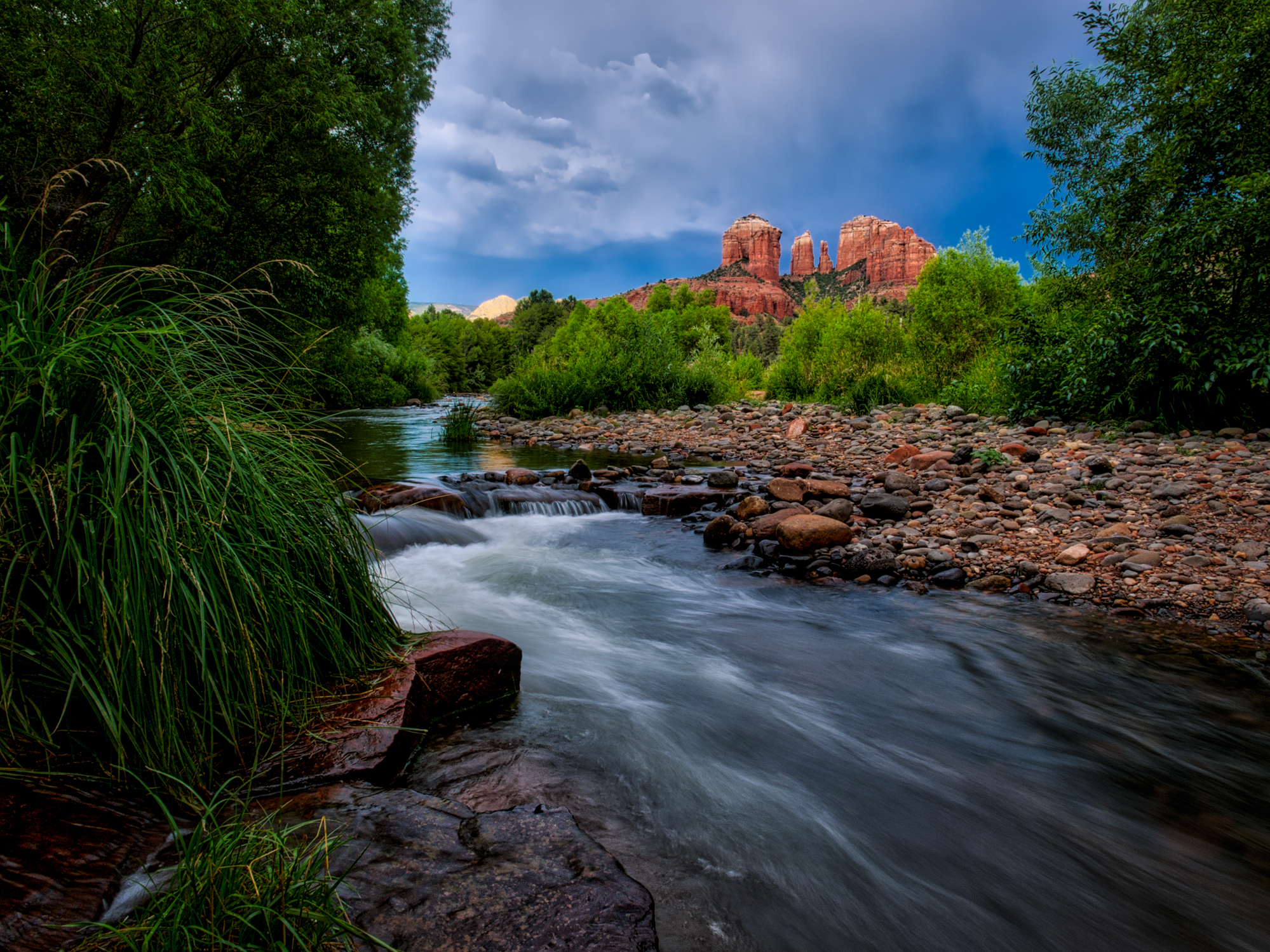 Storms over Cathedral Rock in Sedona, AZ
