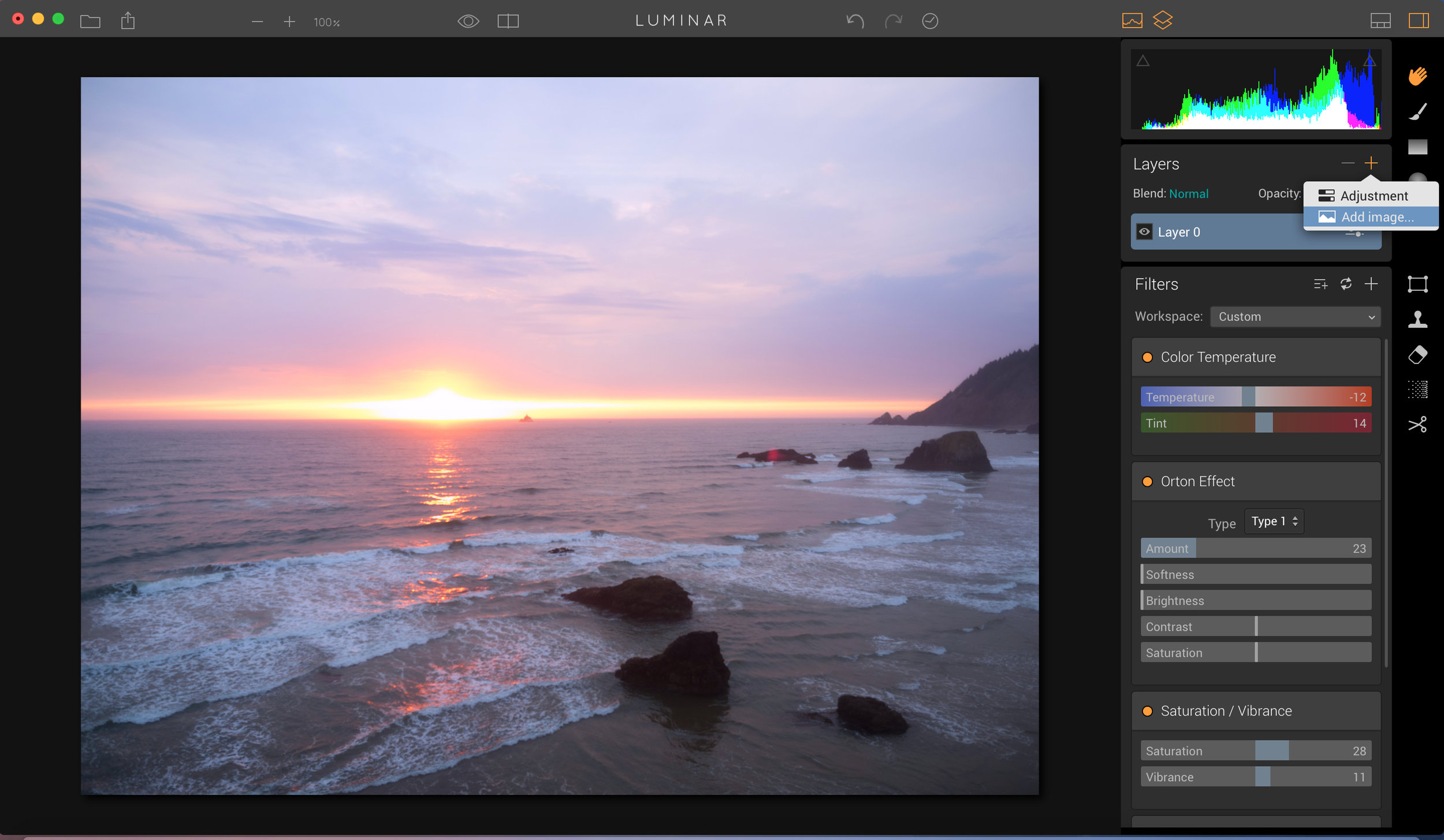 """Click on + in the layers panel to add a new layer, and choose """"add Image""""."""