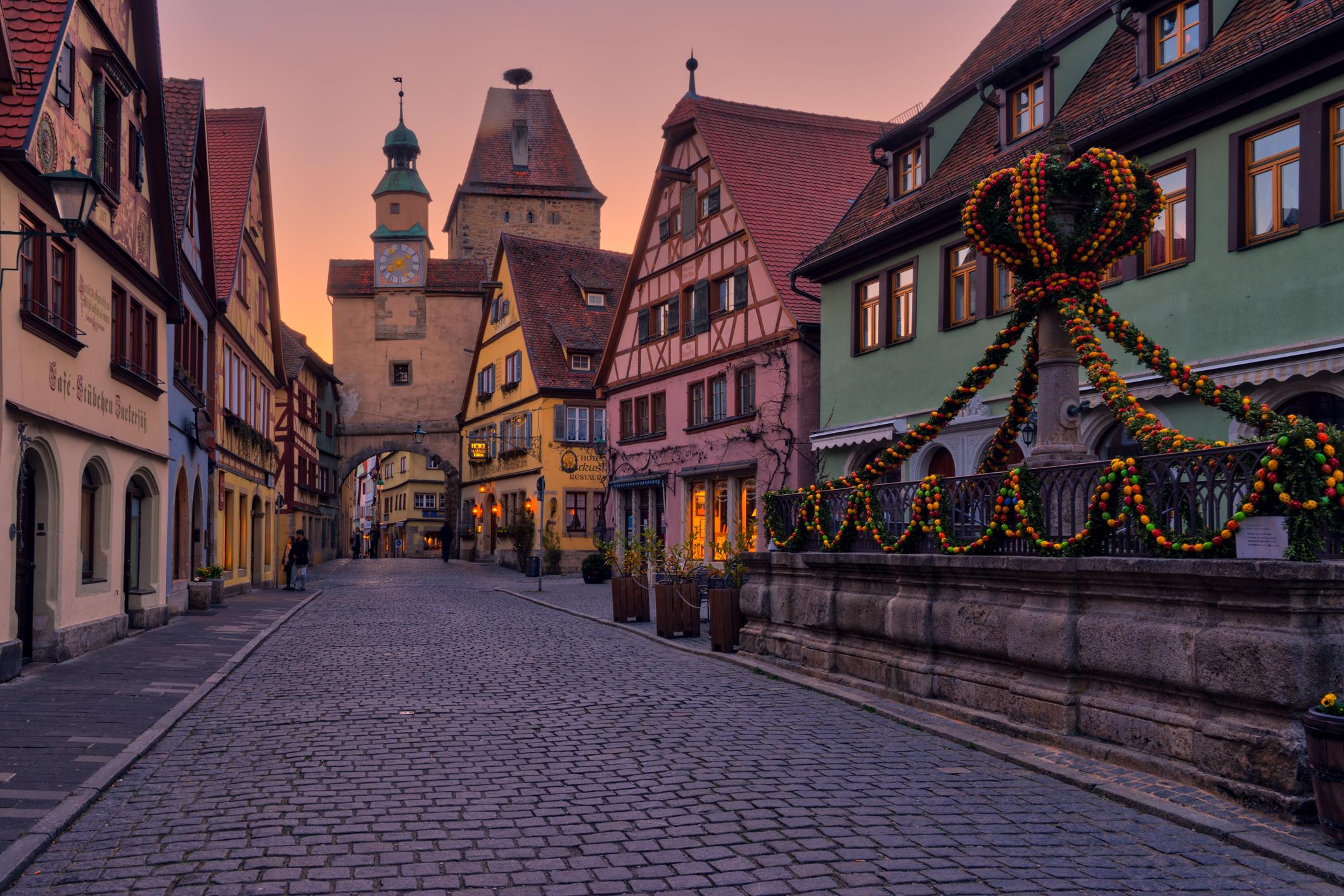 Germany-Rothenburg-street-scene-golden-hour-HDR.jpg