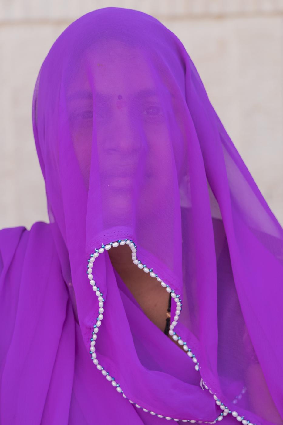 Purple sari