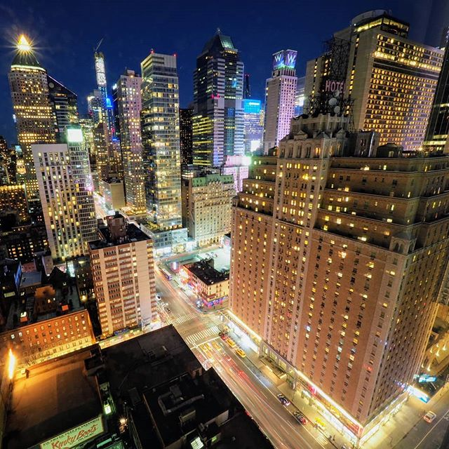New York City lights at night from 32 stories in the air is just magic sometimes.