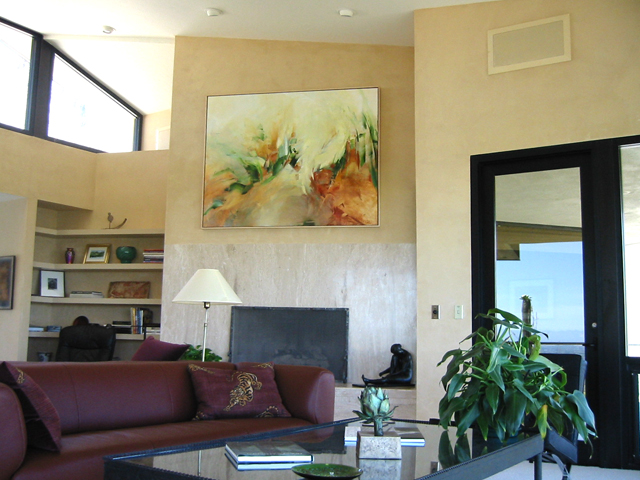 Johannes Brahams' Fourth Symphony visualized. Commissioned painting for a client's Tuscon home.
