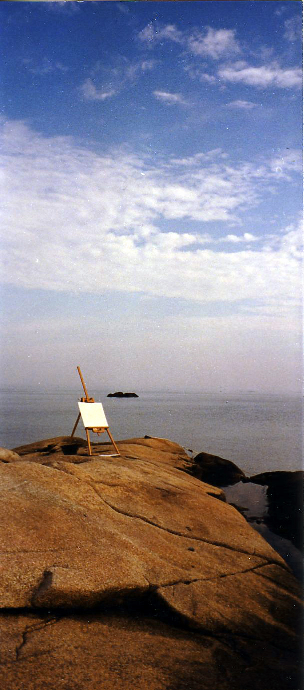 Studio on the rocks in Cohasset. Massachusetts. This is where I painted the Month of Oceans series...