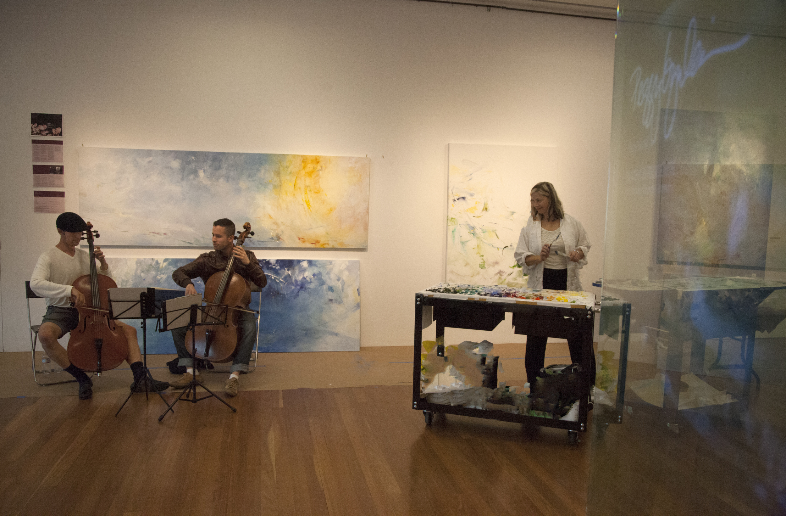 Cellists and painter...going for Baroque