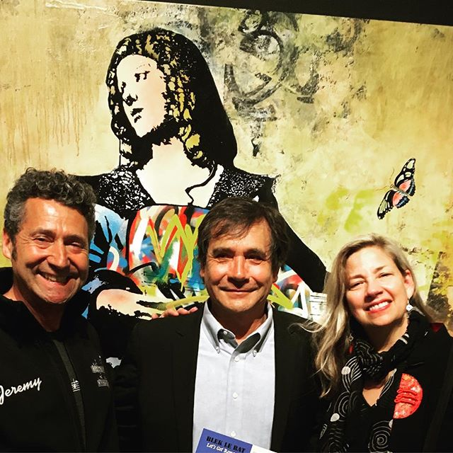 Wonderful evening with #bleklerat and his great new work at Luke's gallery #weinsteingallery