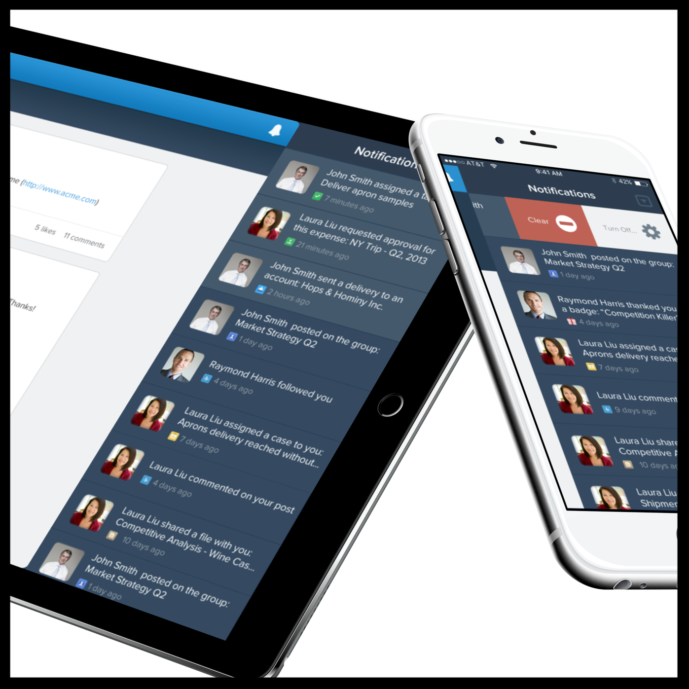 Salesforce 1 - Before Salesforce1, we had 4 native mobile apps and 1 mobile web app for sales teams. Getting things done on the go was hard and in-efficient with key collaboration and workflows spread across multiple apps. This led to poor mobile adoption and a disjointed experience.Our hypothesis was that by unifying, modernizing and mobilizing key sales workflows under one native mobile app, the sales teams would become much more efficient at getting work done on the go.Salesforce1 was a design led project from the get go with CEO support. This project started with a small group of designers and user researchers co-locating into the same space and going through rapid cycles of problem framing, sketching, prototyping & validating.