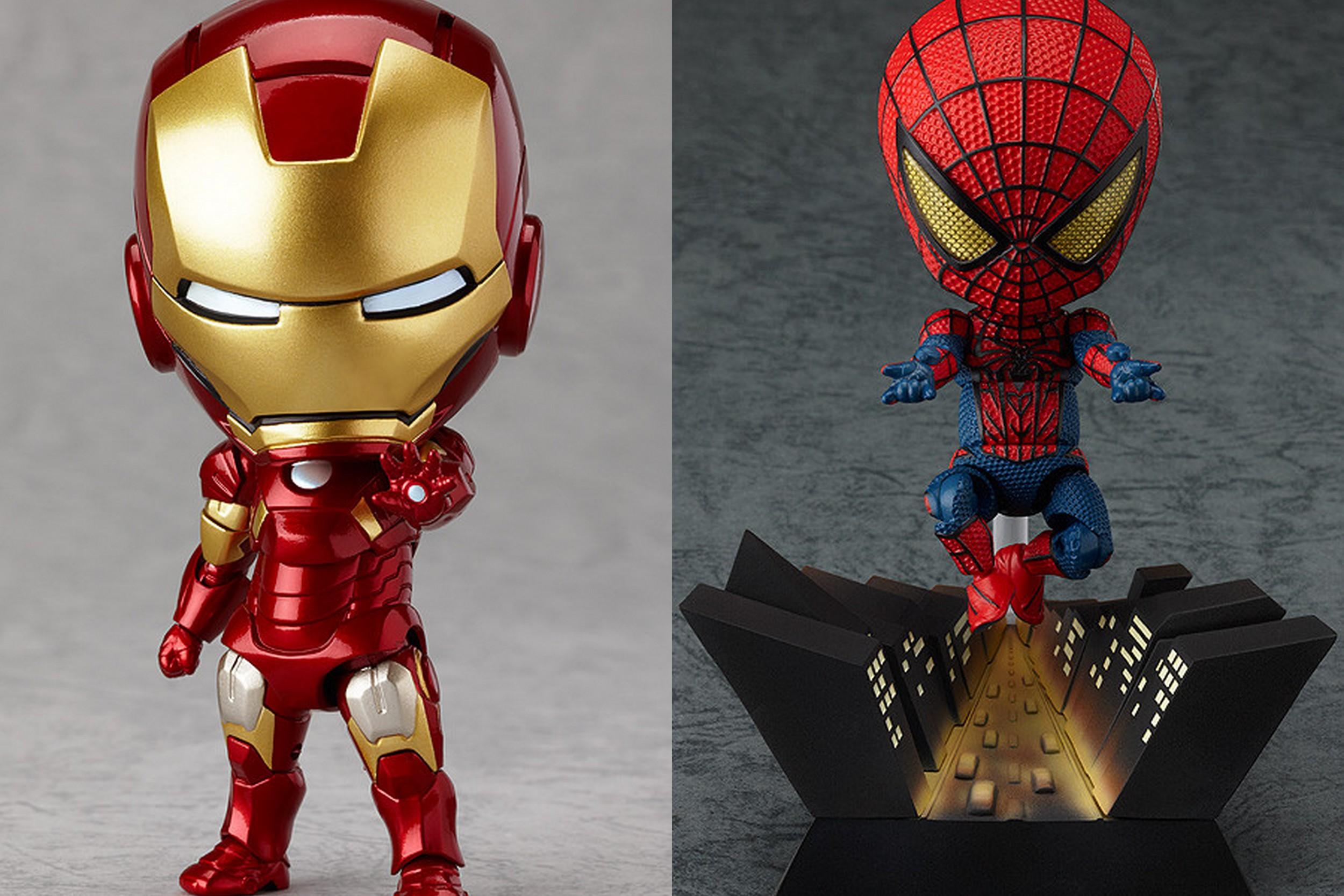 Nenderoid Iron Man Mark 7 and Spider Man