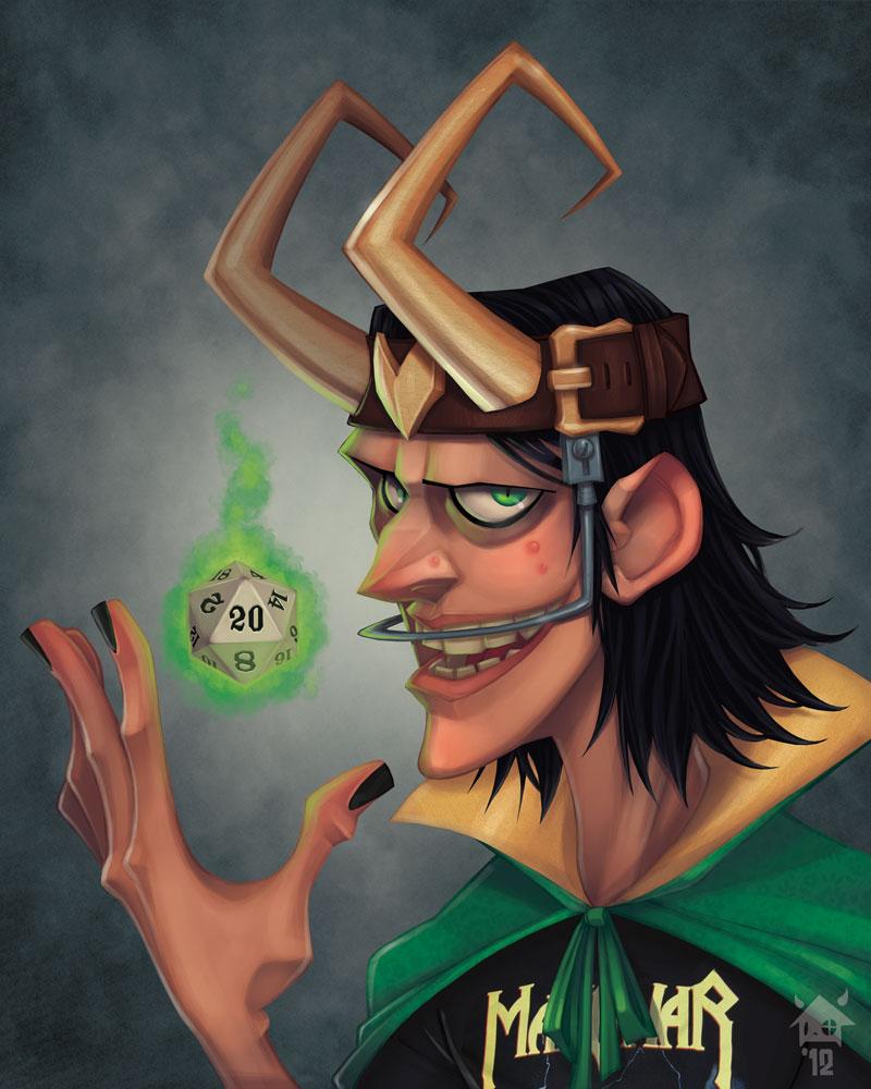 Loki - he loved the D&D