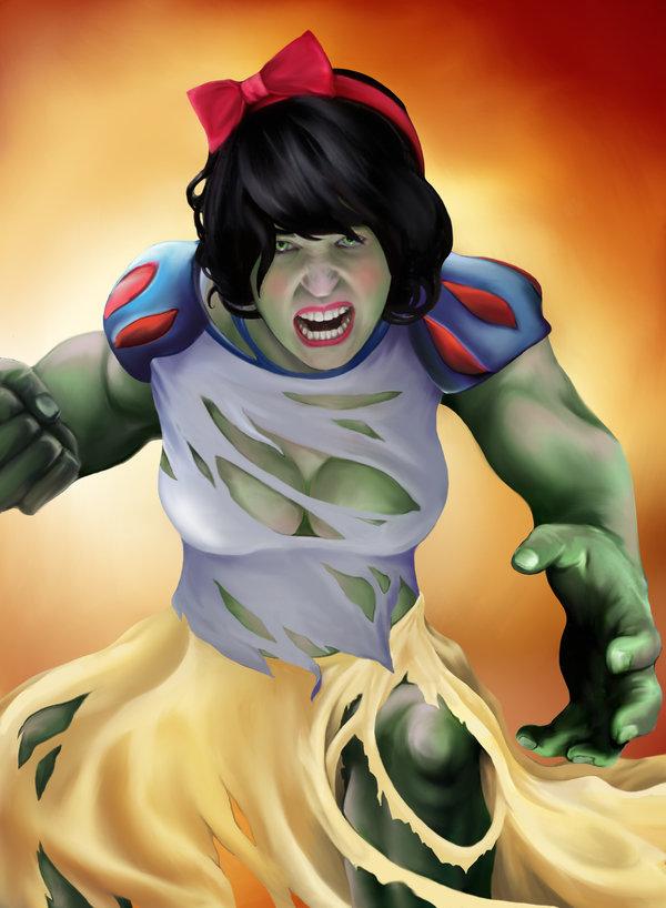 Snow White as The Hulk