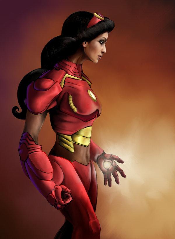 Jasmine as Iron Man