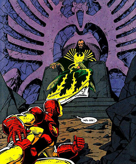 the Mandarin as he appears in the comics